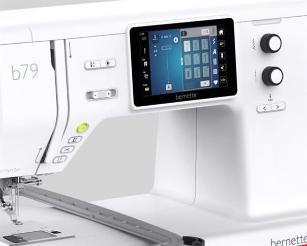 photo of bernette 79 sewing embroidery machine touch screen