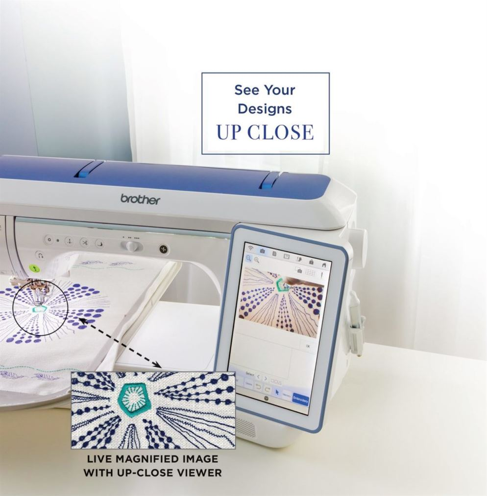 Photo of Luminaire Xp2 illustrating the Innoveye feature magnifying the design on the screen